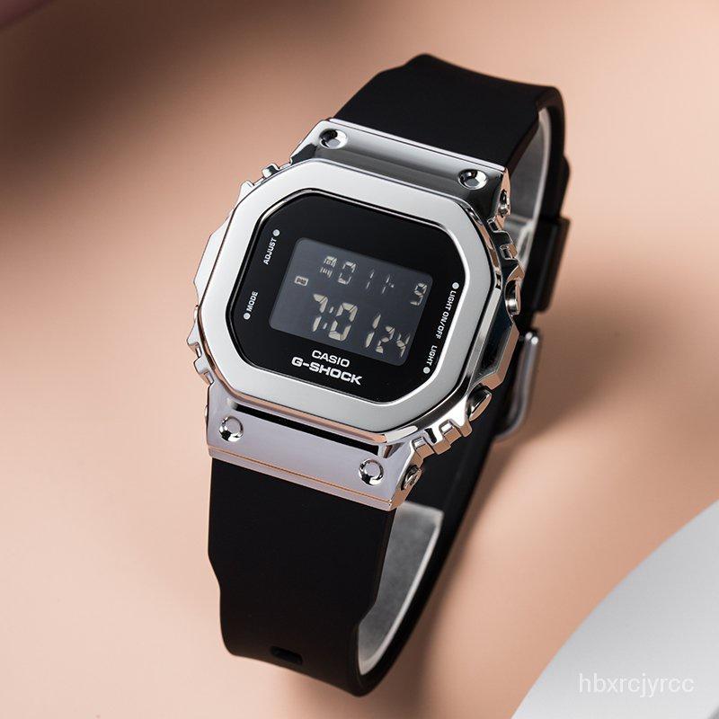 新款卡西歐金屬小方塊G-SHOCK復古運動手錶GM-S5600-1/GM-S5600PG-4 D9Rh