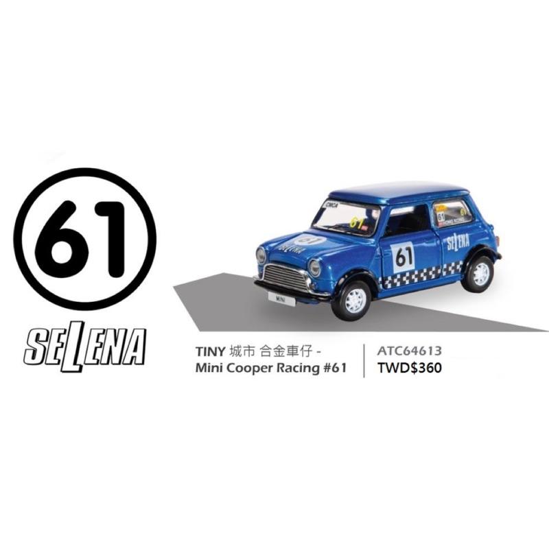 TINY 1/64 #61號 MINI COOPER RACING  —SELENA 金屬藍