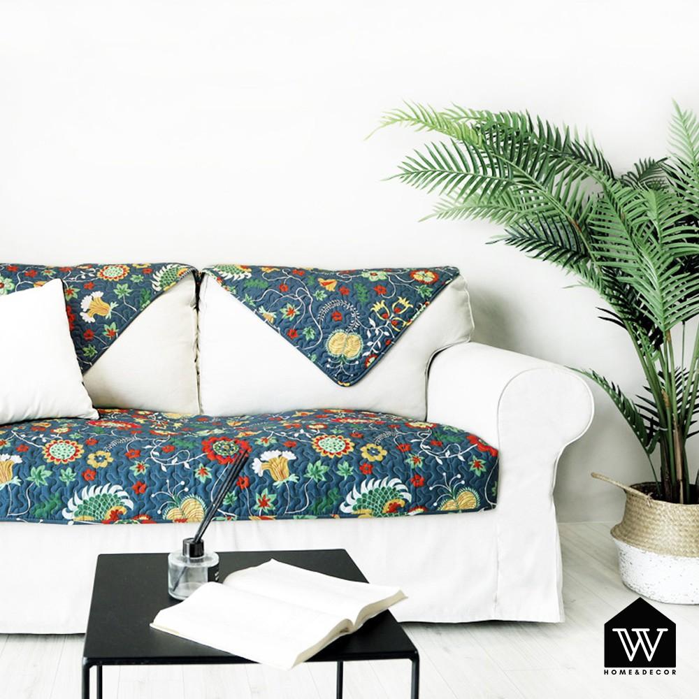 【好物良品】沙發墊套蓋巾組四季通用防滑防髒全棉印花布藝 - 托斯卡尼|圖案花紋系列