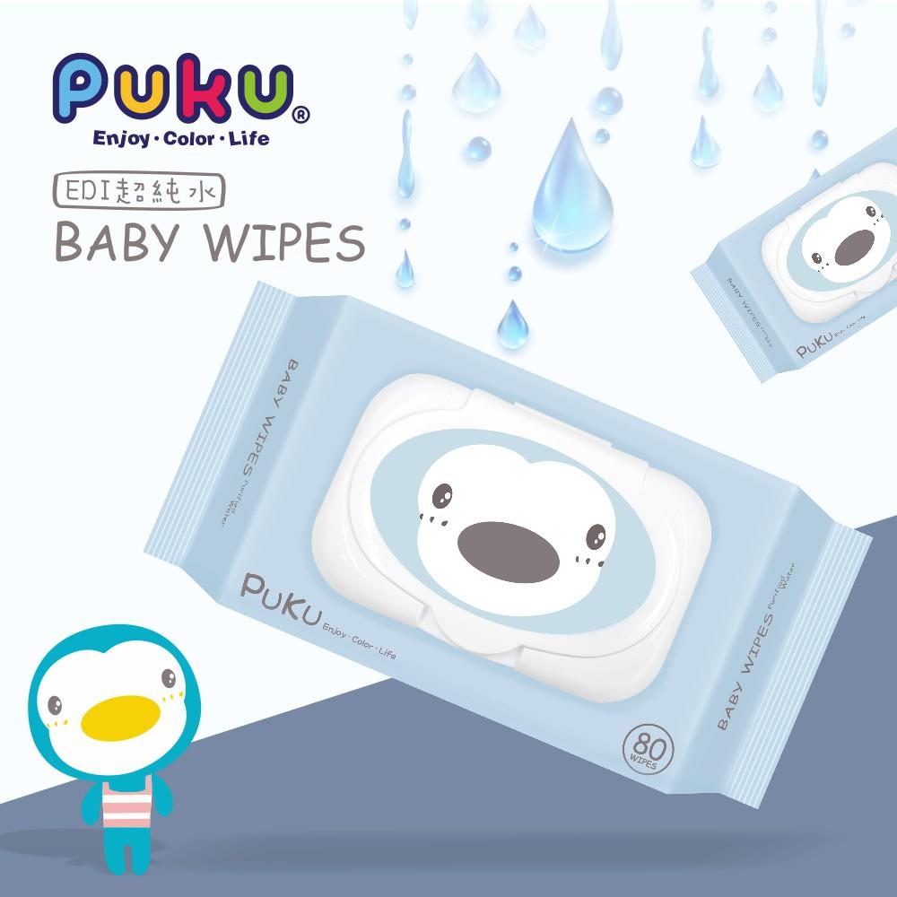 【單包賣場】PUKU 80抽加厚型嬰兒柔濕巾(P17818)