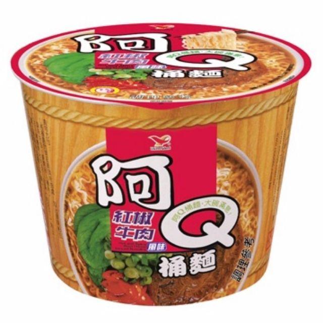 阿Q桶麵(紅椒牛肉)一箱/12碗 $365