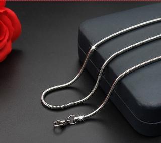 【不銹鋼項鍊-成品】1條 0.9mm鈦鋼圓蛇鍊蛇骨項鍊 不銹鋼項鍊  鎖骨50公分鍊百搭飾品