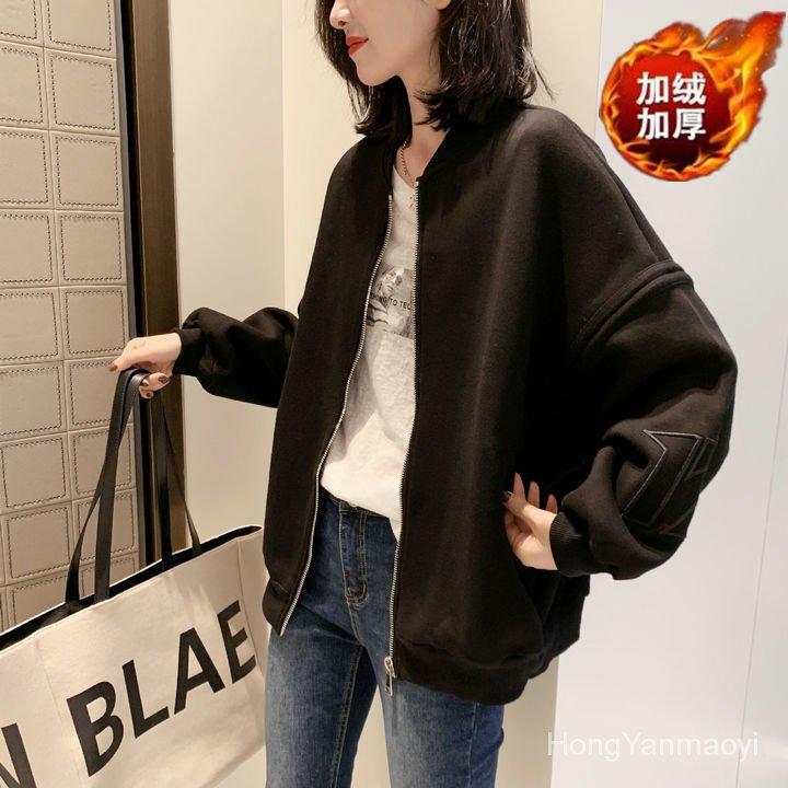 寬鬆歐洲站新款歐貨潮短款棒球服女秋冬夾克加厚時尚百搭外套韓版