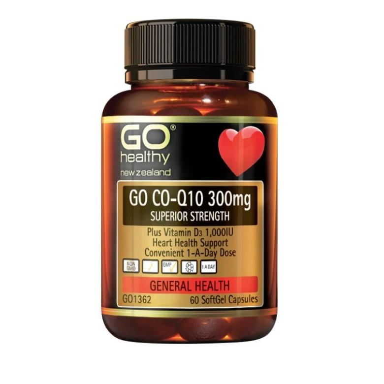 紐西蘭代購  Go Healthy Co-Q10 300mg 輔酶Q10 60顆