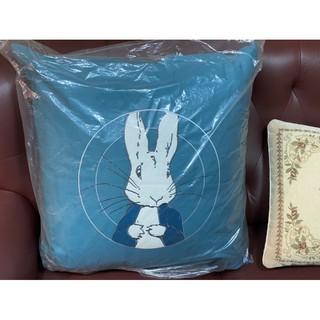 全新未拆 網美最愛1929比得兔 限量大抱枕靠枕 60x60孔雀藍綠厚棉平織羅紋 臺中市