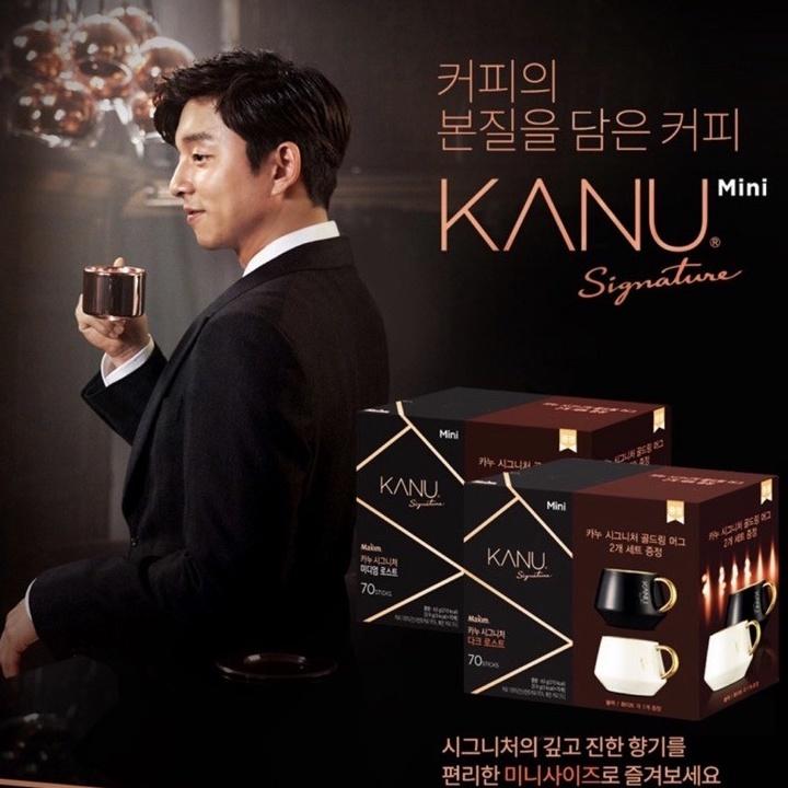 現貨 韓國代購 KANU SIGNATURE 頂級升級版 MINI 美式咖啡 70入 內附送金邊陶瓷咖啡杯