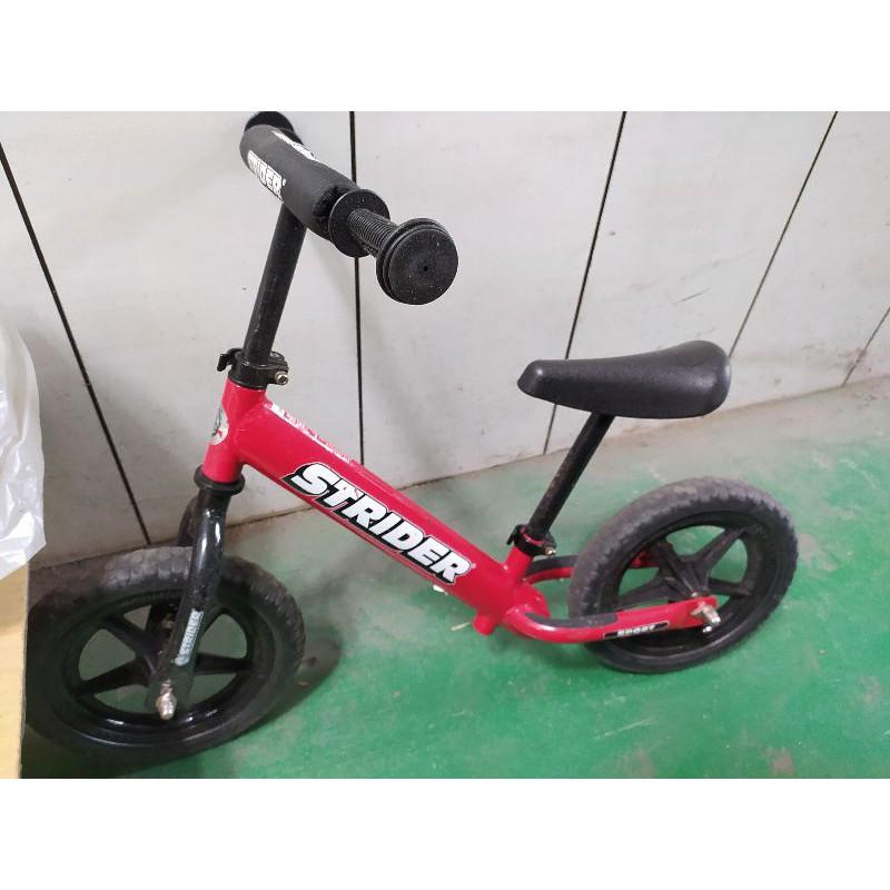 STRIDER原裝正品工廠 兒童12吋平衡車 滑步車 自行車 學步車 送迪卡儂兒童護具組粉紅色