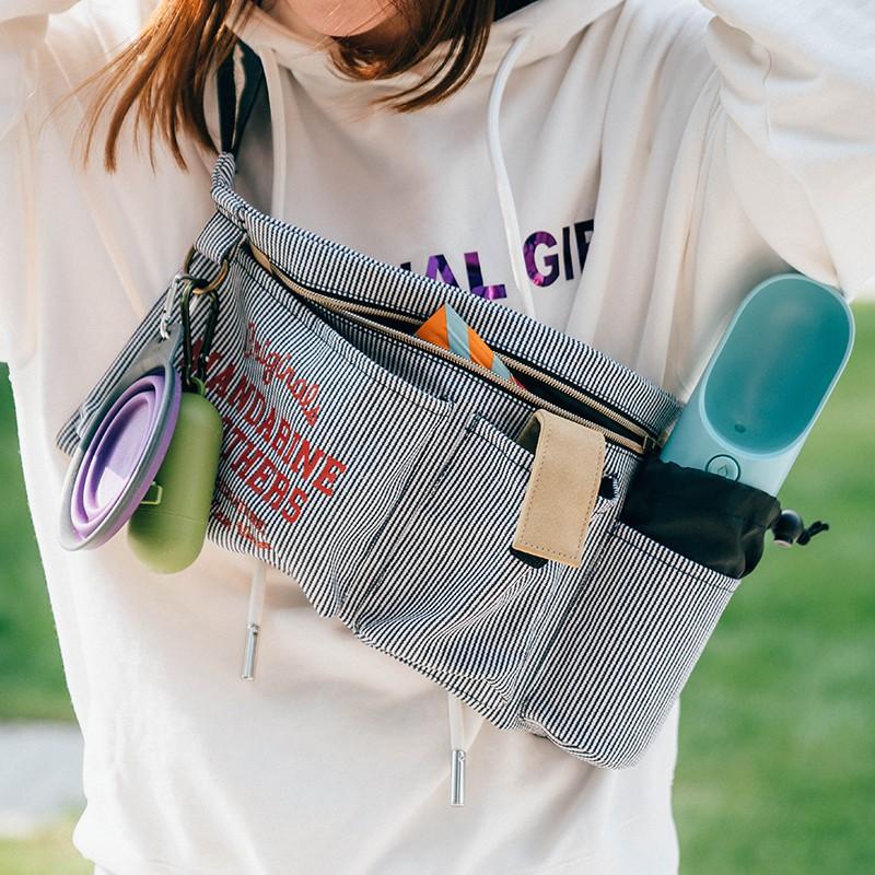 林林家居日本同步Mandarine遛狗外出包 寵物戶外出行多功能腰包背包收納包05