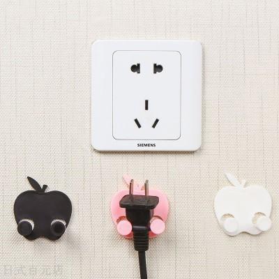 電源插頭掛鉤拖把廚房電線粘貼式壁掛創意免打孔強力插座掛架粘鉤滿$399出貨