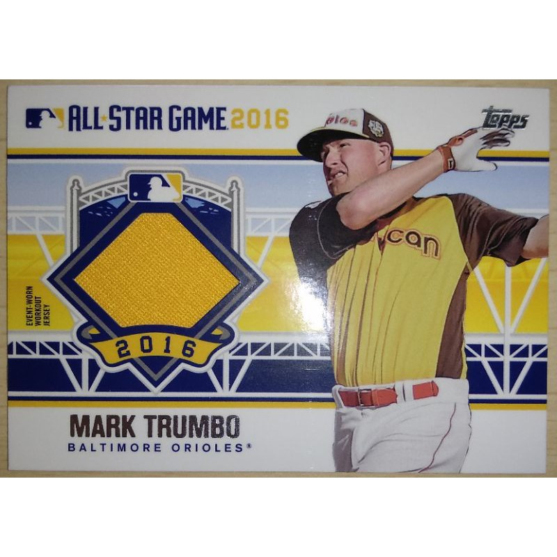 MLB美國職棒 明星賽球衣卡 2016 Topps Update 金鶯隊 Mark Trumbo