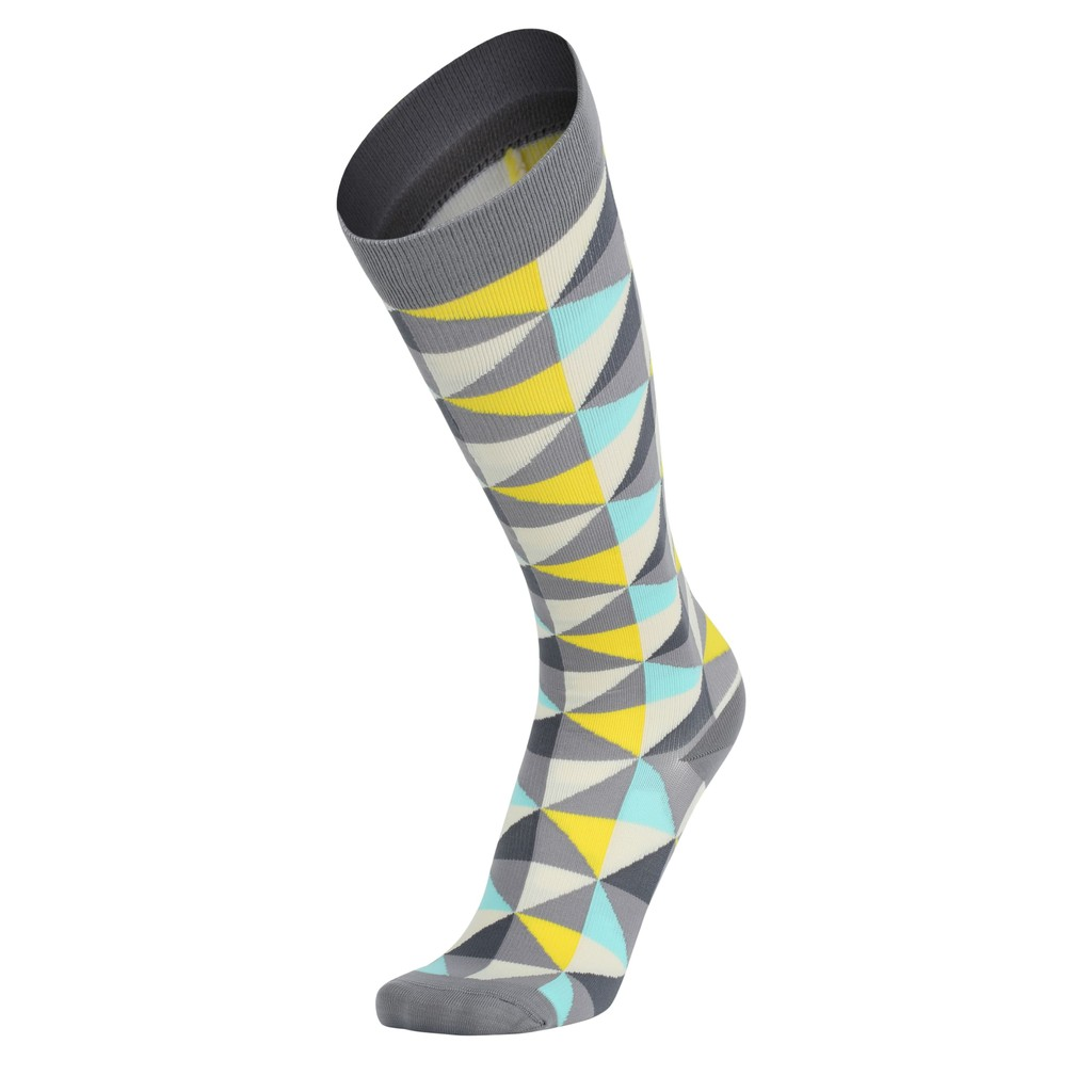 IMI MBJ 壓力襪 及膝 灰鑽石 紐約設計師款