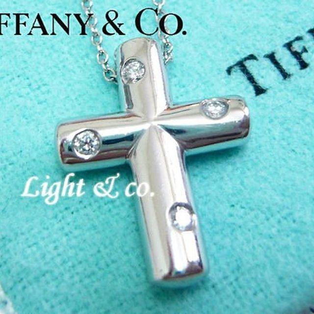 【Light & co.】專櫃真品已送洗 TIFFANY 950 鉑金 單鑽 鑽石 系列 十字架 十字 項鍊