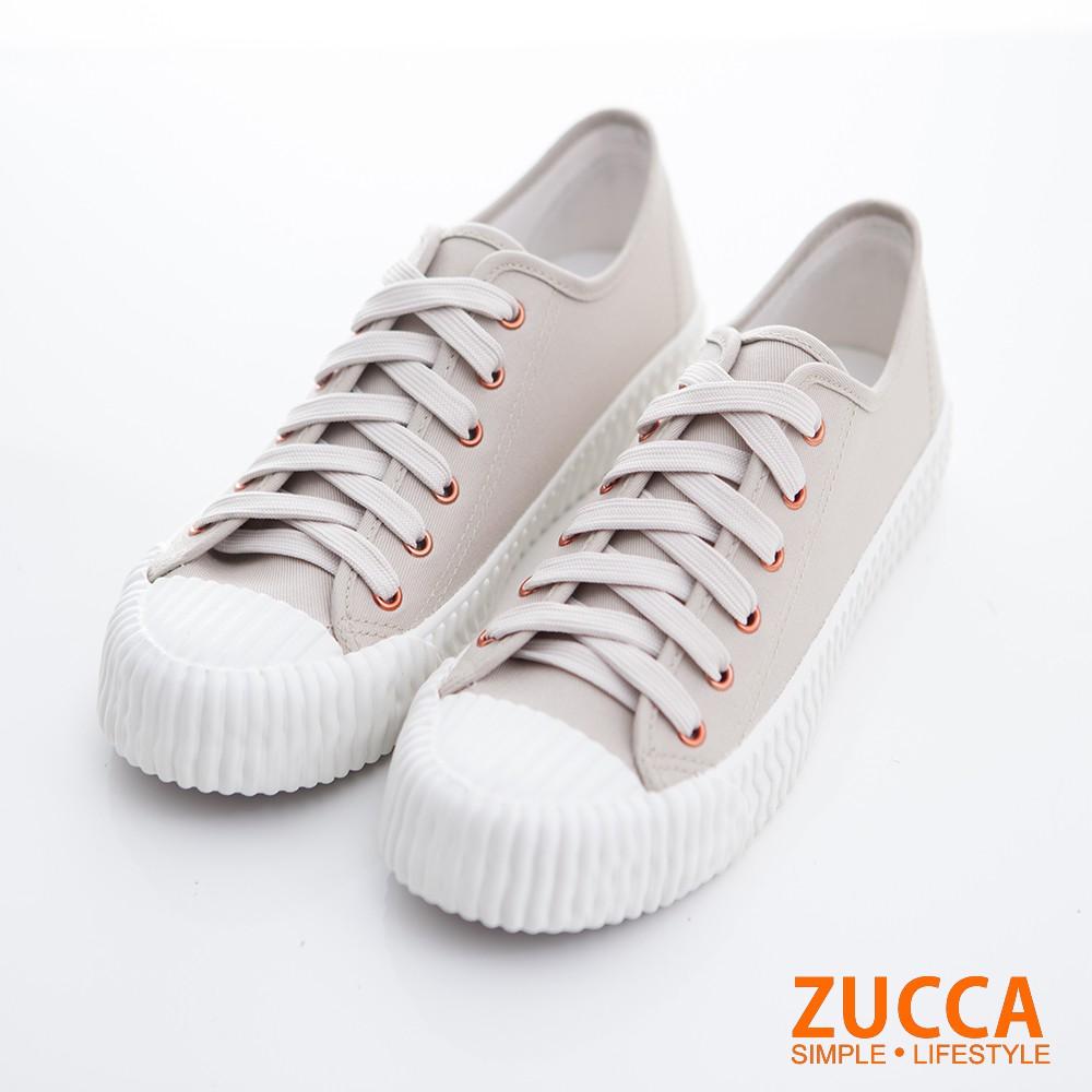 【ZUCCA】透氣防潑水綁帶休閒鞋-z6705gy-灰