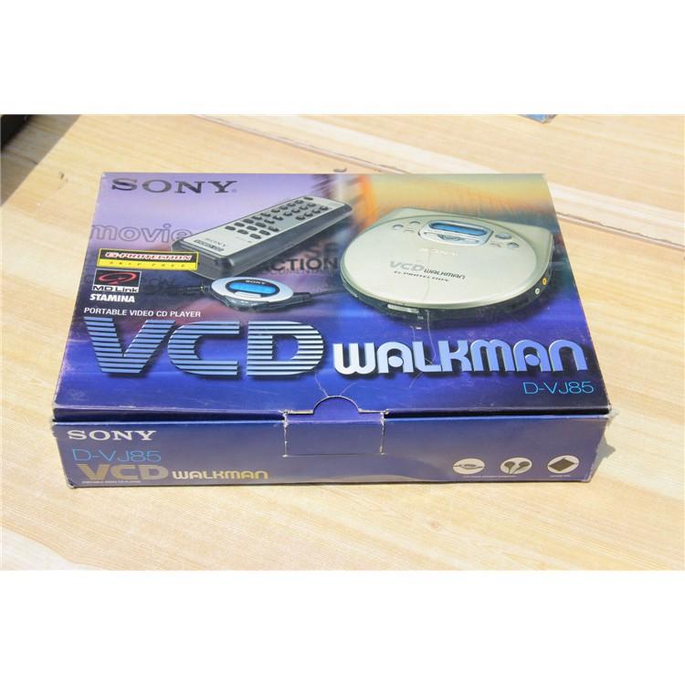 Sony/索尼D-VJ85高音質VCD機CD隨身聽全套帶包裝配件齊全支持光纖