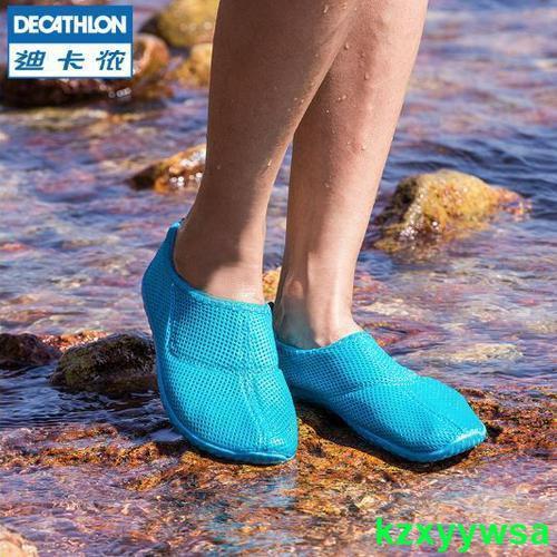 迪卡儂涉水鞋男溯溪沙灘戶外旅行海邊便攜涼鞋防滑游泳浮潛鞋OVSzw