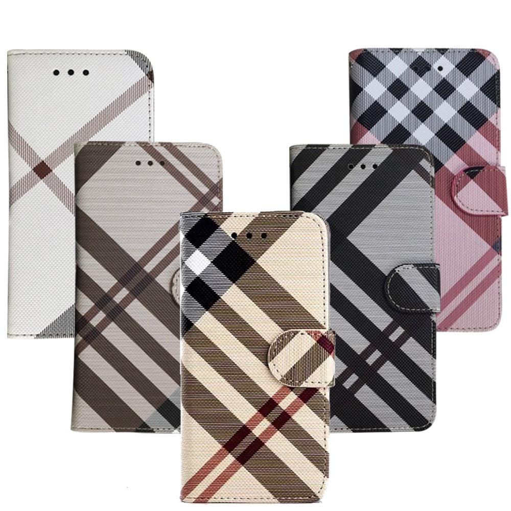 Aguchi 亞古奇 Samsung Galaxy A52 5G 獨家限量發行 英倫格紋氣質手機皮套 側掀磁扣高度防護