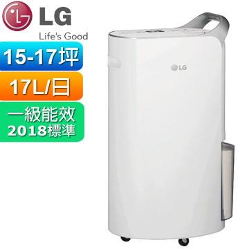 LG 17公升PuriCare變頻除濕機(晶鑽銀)MD171QSK1