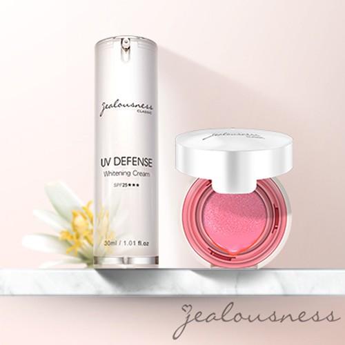【Jealousness婕洛妮絲】抗UV防曬素顏霜30ml+微醺晶透氣墊腮紅9g