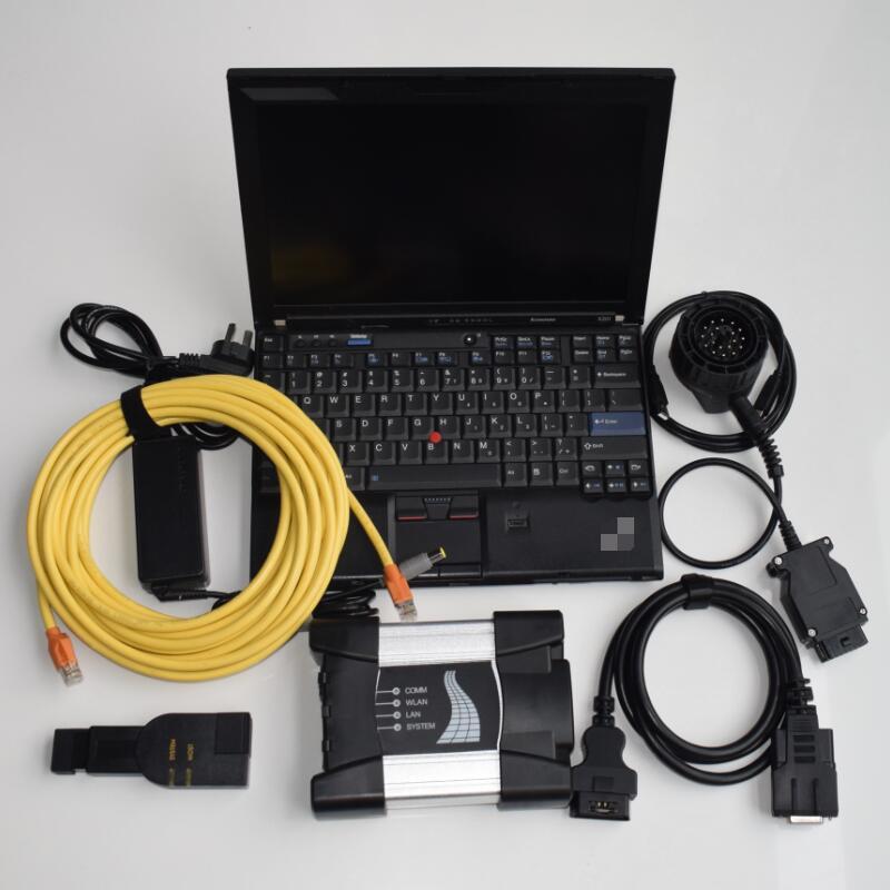 寶馬診斷儀A3 BMW ICOM NEXT支持所有E F G系檢測診斷編程設碼帶聯想T440二手筆記本電腦+最新版本軟體