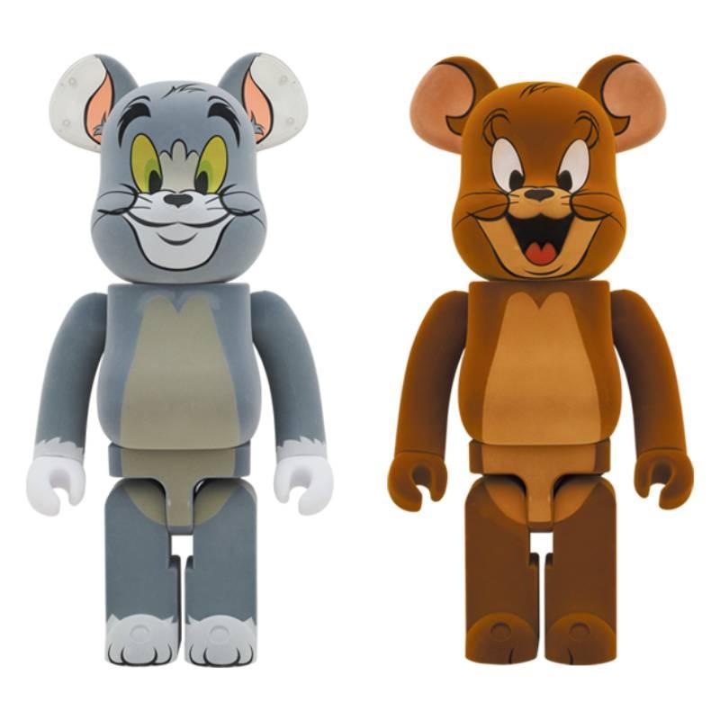 【ZAjapan】日本代購 BE@RBRICK 湯姆貓與傑利鼠 1000% Tom & Jerry 植絨版兩隻一組不單賣