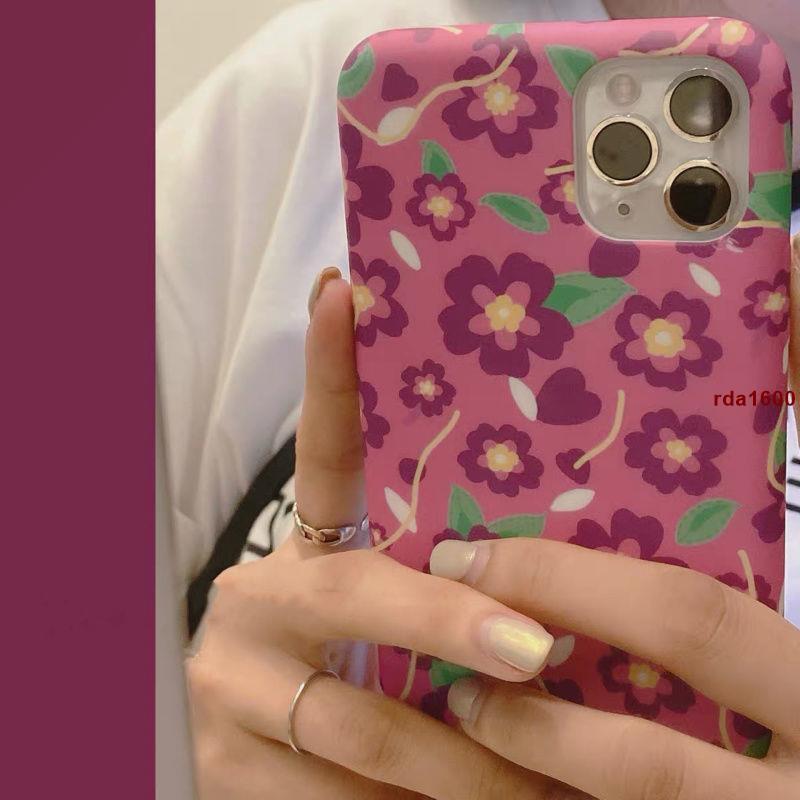 粉紫色小碎花夏日ins風iphoneX蘋果11pro max手機殼硅膠i7/8p女xr婷婷數碼