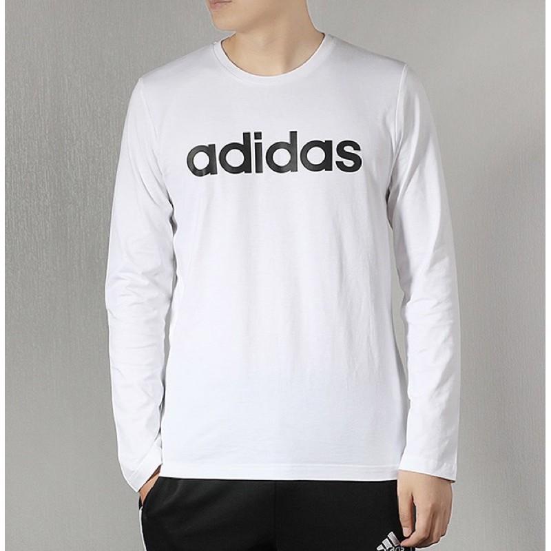 【名足坊】Adidas 愛迪達 男款 白色 衛衣 長袖 大學T 款號 : EI4722