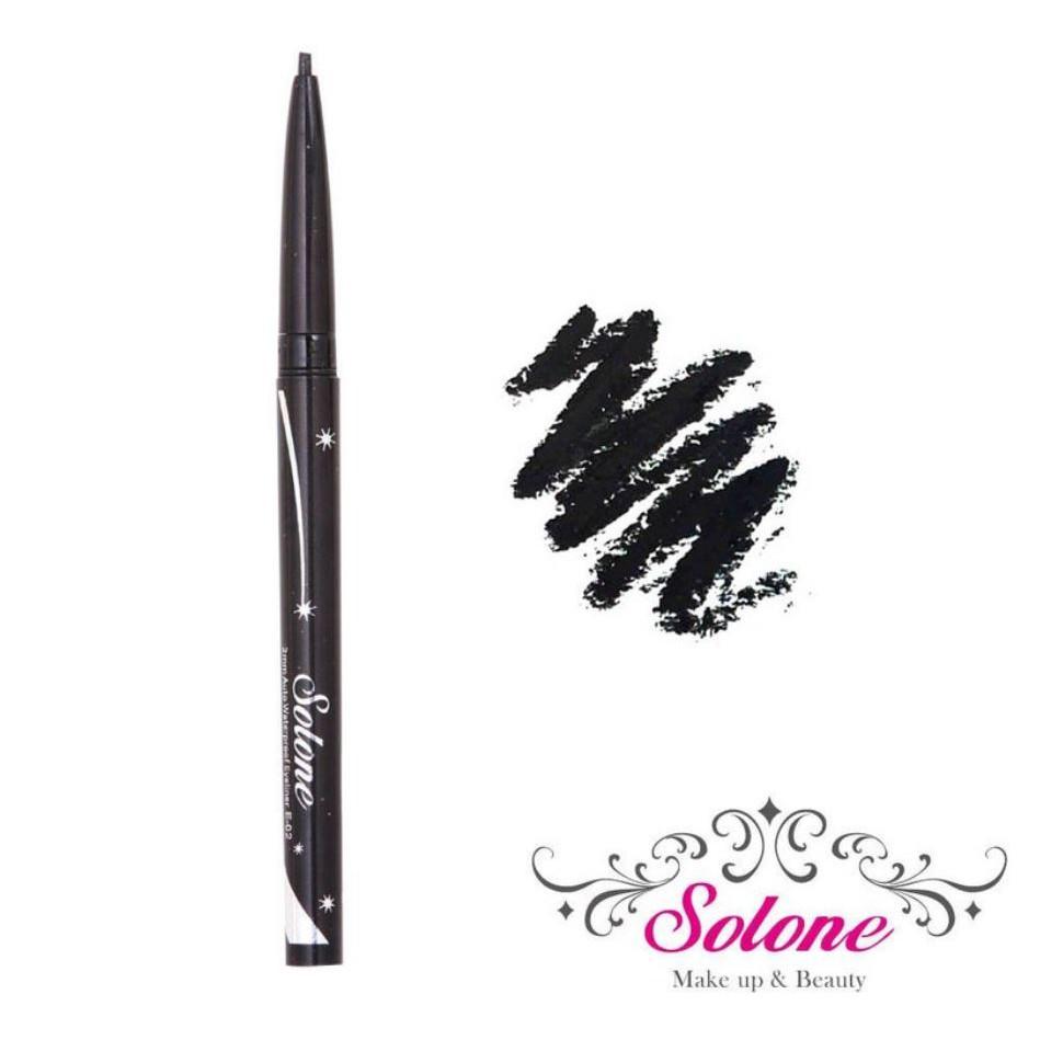Solone 2mm極細防水眼線膠筆 1274-1濃密黑