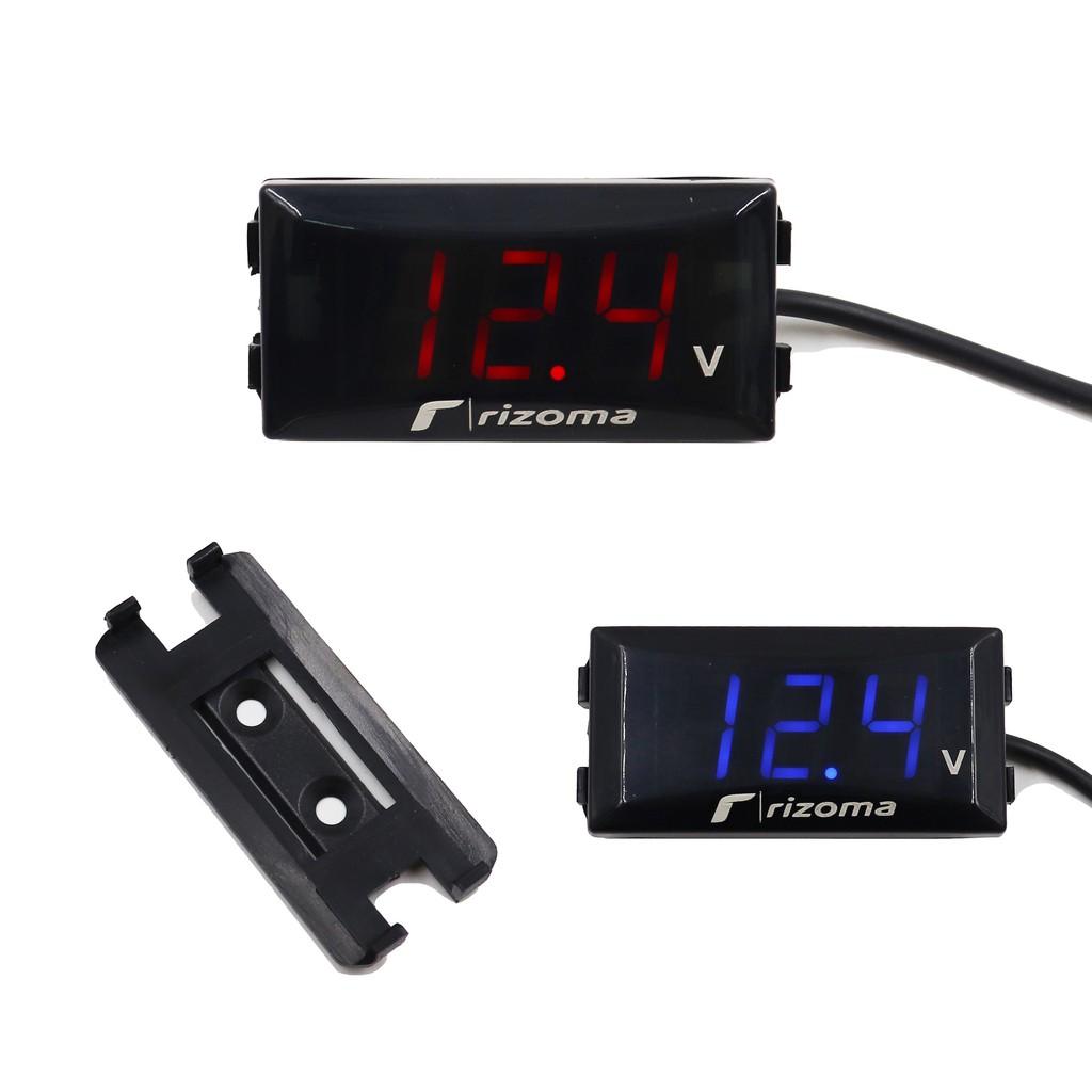 【機車改裝】機車12V電壓表踏板車改裝電壓表防水電壓儀錶