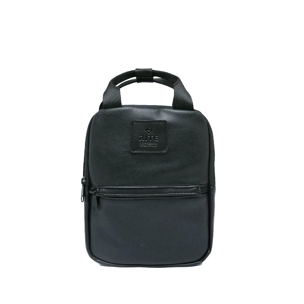 RITE-v3露可小後背包-皮革黑