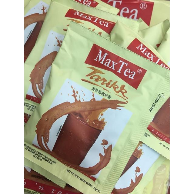 現貨~Louis生活館~印尼拉茶 MaxTea Tarikk 美詩泡泡奶茶(單包)