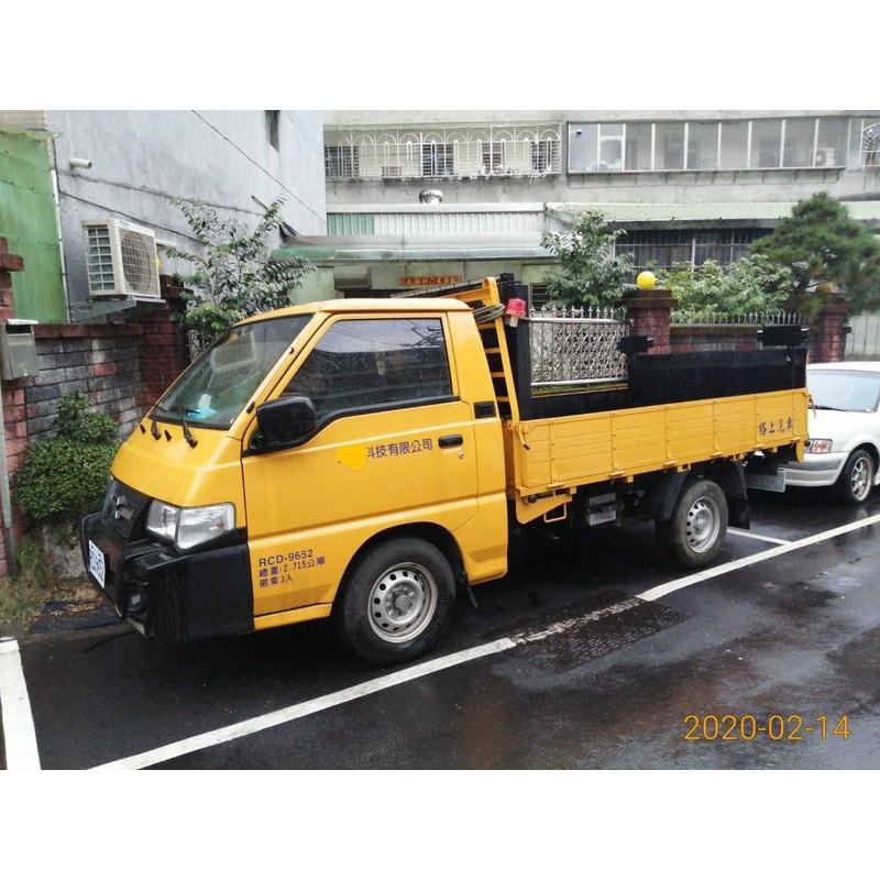 三菱 中古車 中華得利卡 Delica 2.4 黃色 標誌車 工程車 號誌車 貨車 卡車 升降尾門 手排車 自動充電系統
