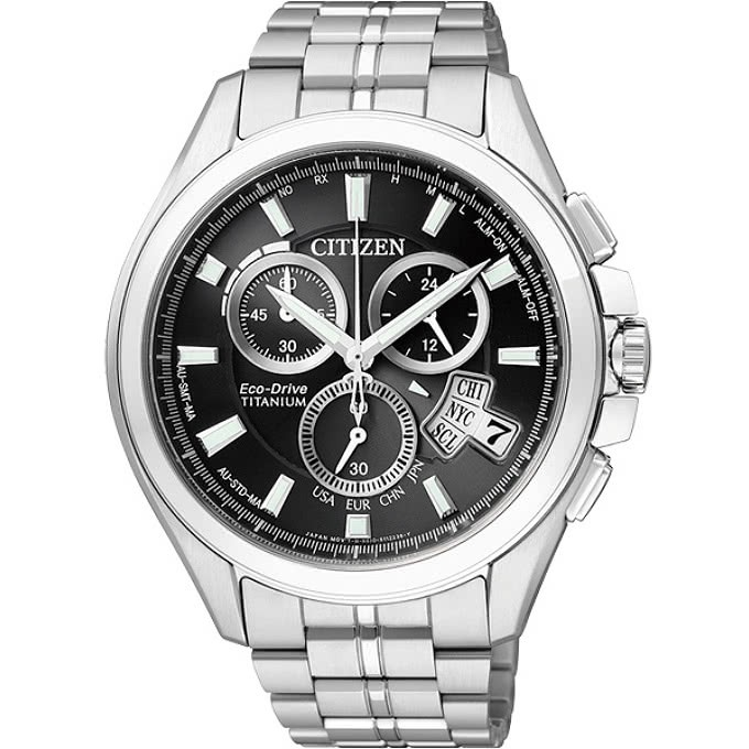 【CITIZEN星辰】手錶 BY0051-55E Eco-Drive 鈦金屬萬年曆電波男錶-黑_保固二年,超值搶購