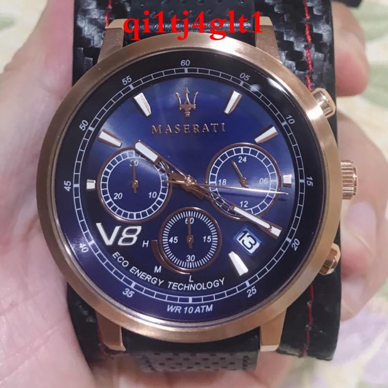 正品MASERATI 瑪莎拉蒂GT光動能計時手錶-Granturismo系列(R8871134003)