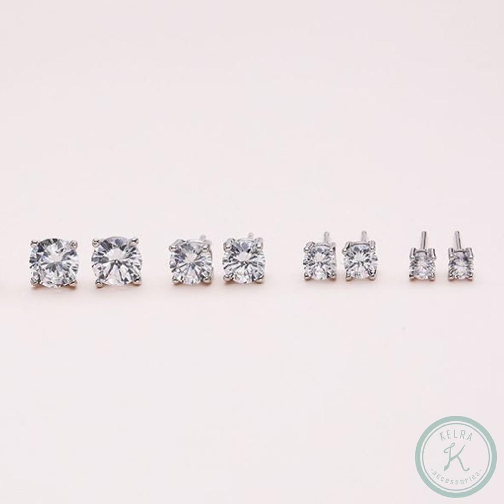 【KELRA】手作通體純S925銀鋯石耳環耳夾