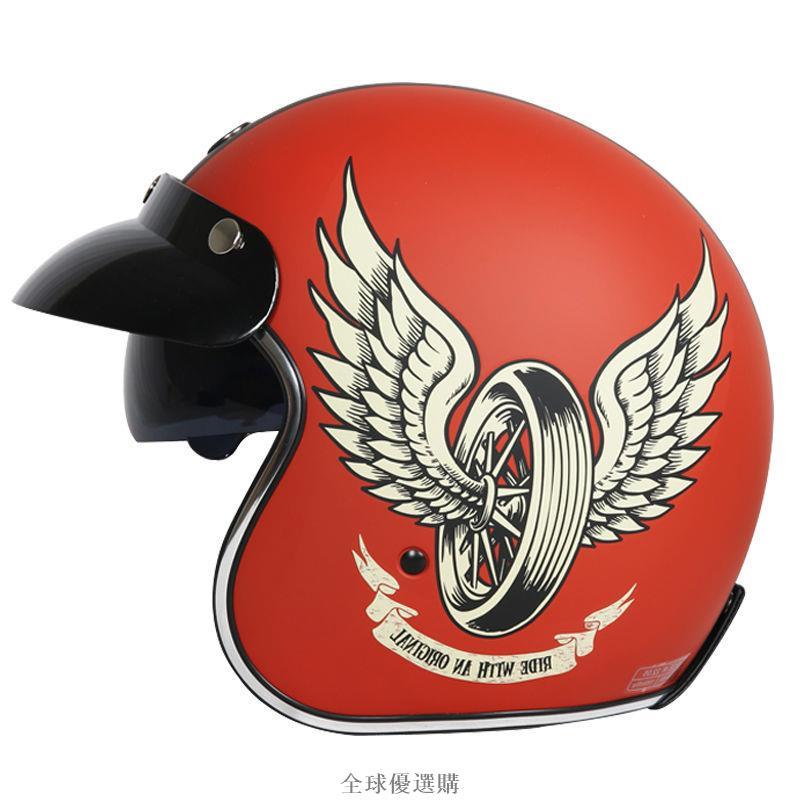 TORC摩托車復古半盔男女夏季哈雷頭盔電動車安全帽3C認證防曬頭灰