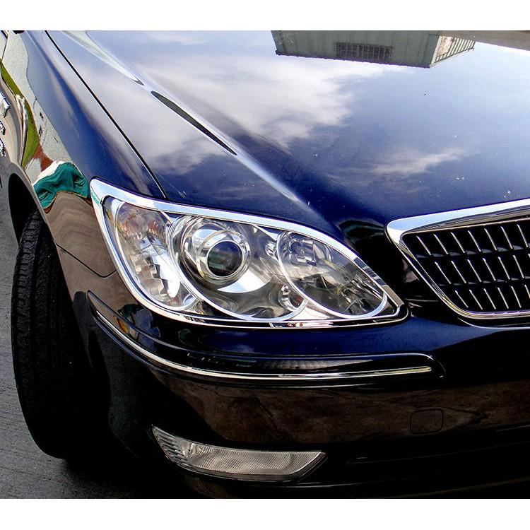 Toyota Camry 5.5代 2004~2006 改裝 鍍鉻銀 車燈框飾貼 前燈框 頭燈框 大燈框