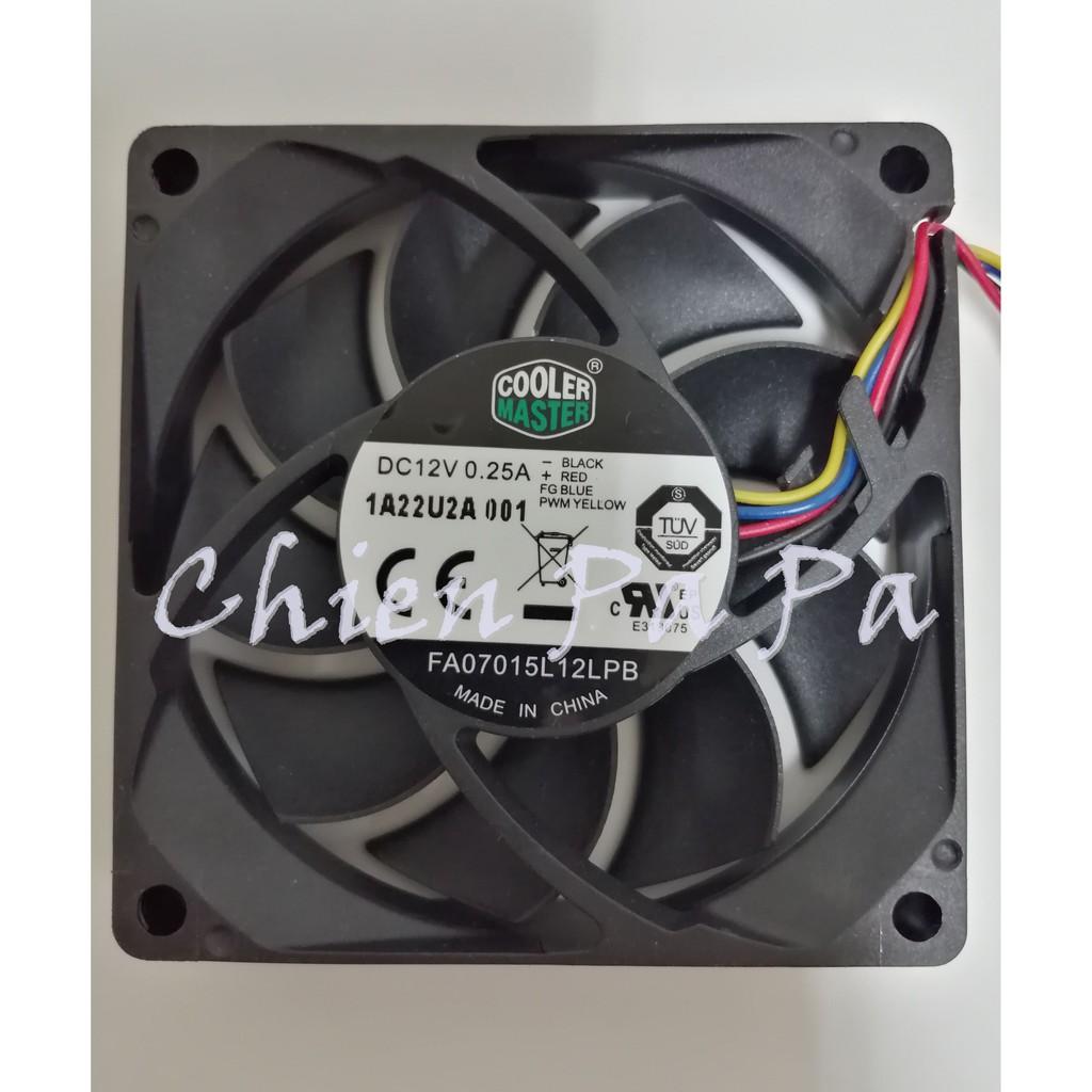 Chien_Cooler Master 7公分 CPU 溫控 風扇 4Pin 12V 超靜音 FA07015L12LPB