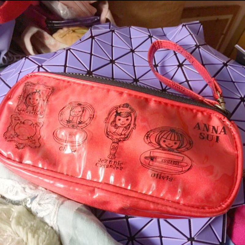 ANNA SUI聖誕紅娃娃頭化妝包
