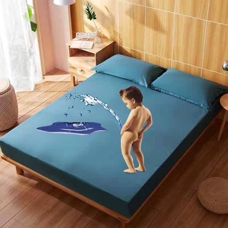 卡通床包  防水床包 防水保潔墊 雙人加大 超透氣 防蟎床包 隔尿墊 保潔墊 單人 床罩 保潔墊床包 卡通印花防水床包