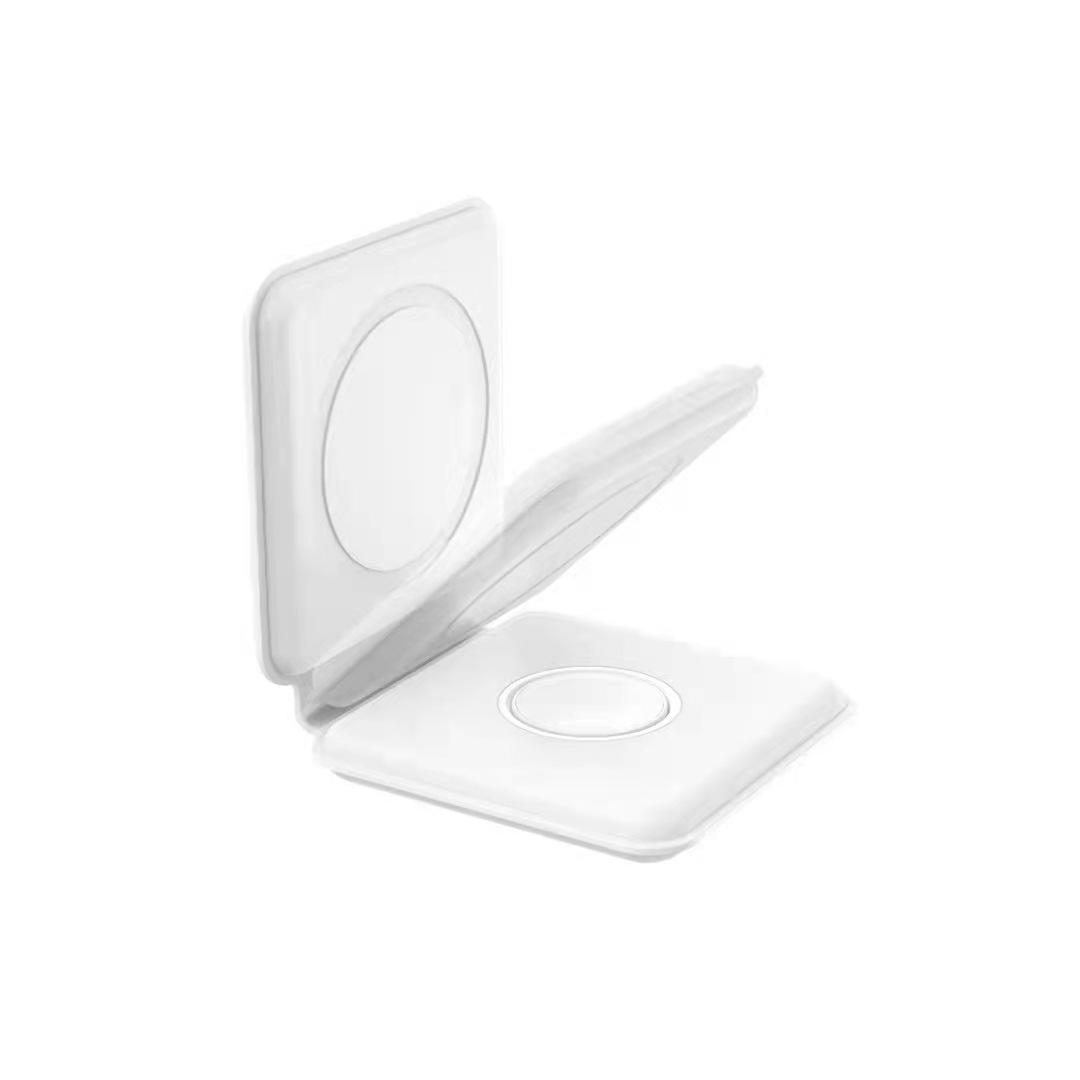 現貨Magsafe折疊式無線充 二合一 磁吸雙向充電器 適用於蘋果12手機/手錶/耳機