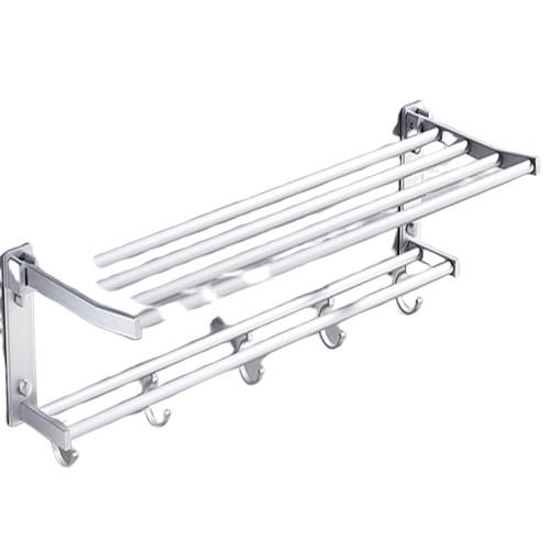 摺疊太空鋁毛巾架+短螺絲貼*4
