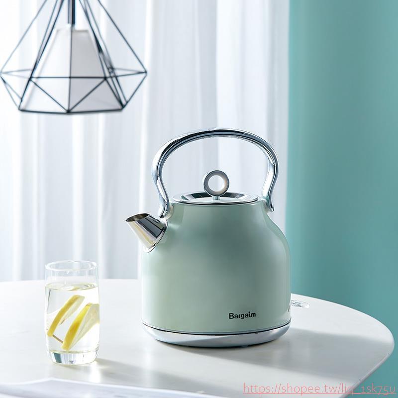 熱銷款Bargaim燒水壺全自動家用304不銹鋼電熱水壺大容量煮水壺自動斷電