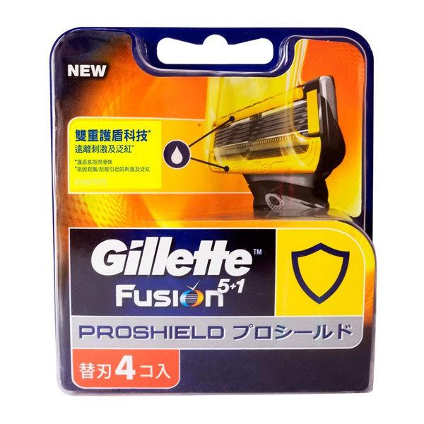 吉列 鋒護 潤滑 系列 刮鬍刀 刀片 (4刀片)