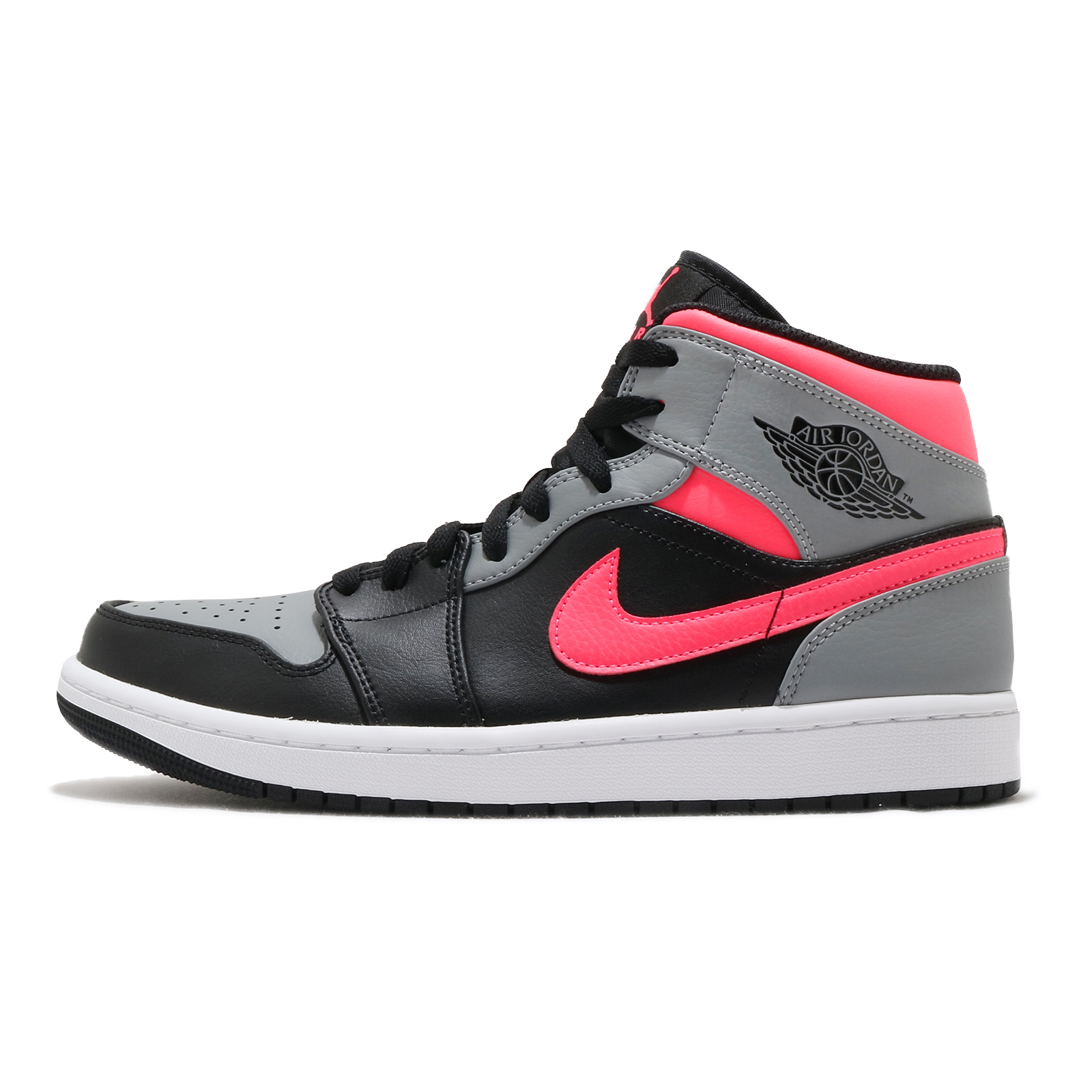 Nike Air Jordan 1 Mid 黑 灰 粉紅 Pink Shadow 男鞋【ACS】 554724-059