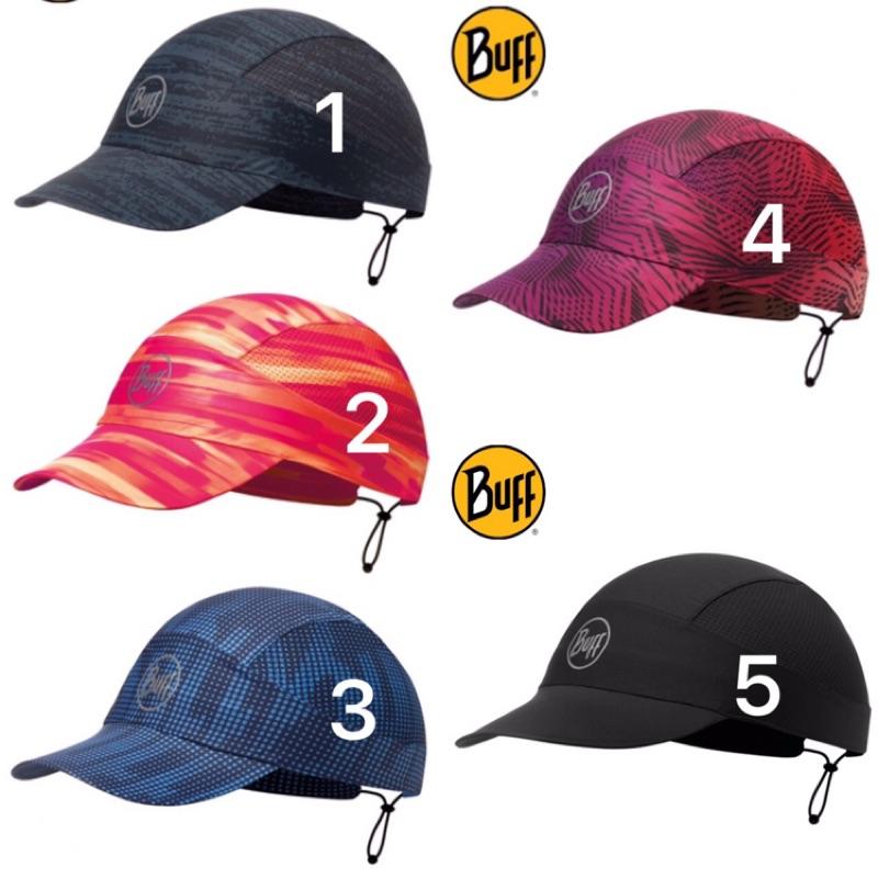Buff Fastwick急速排汗遮陽帽 113702 極簡黑/高防曬抗UV/軟式摺疊帽/路跑/馬拉松/健行/登山