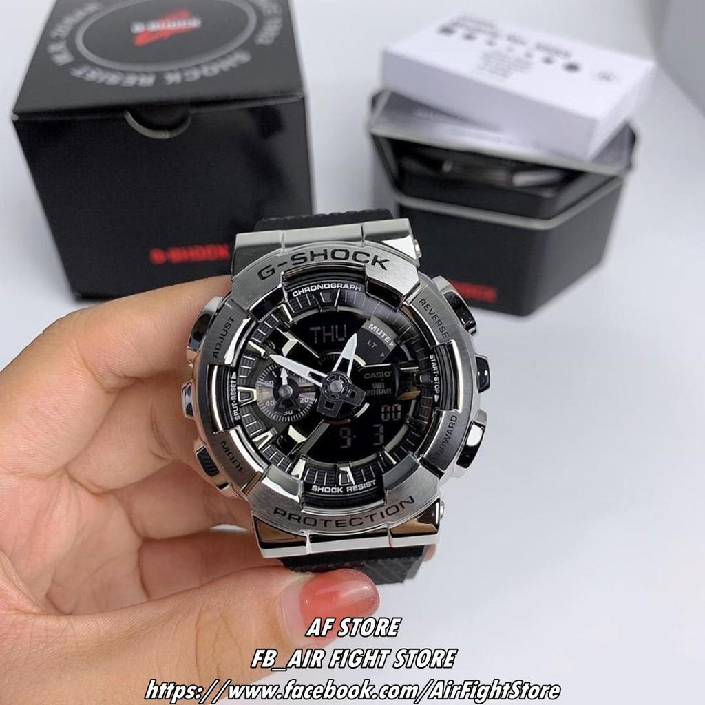 AF Store*Casio G-Shock GM-110-1A GA-110系列 不鏽鋼殼 大錶徑 GM-110-1