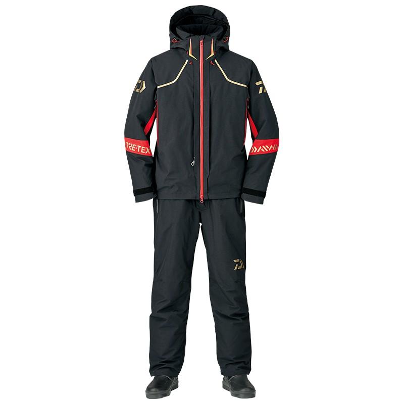 【桃園建利釣具】出清DW-1307 GOR-TEX防寒套裝 (黑色) DAIWA XL / 2XL不怕冷 釣魚套裝 雨衣