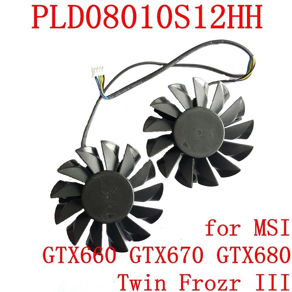 適用於MSI GTX660 GTX670 GTX680 Twin Frozr III顯卡風扇的NEW POWER LOG