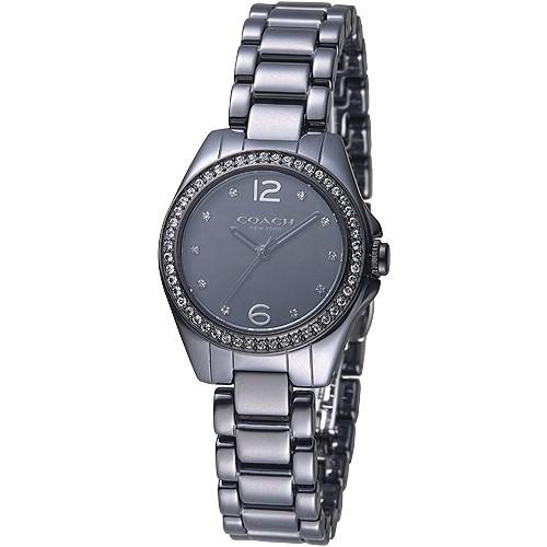 COACH手錶 14502130 慾望城市晶鑽陶瓷女錶-黑 廠商直送 現貨
