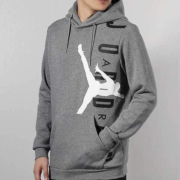 0eeacac32 Nike Jordan Hoodie 灰 白黑 大logo 刷毛 帽T 秋冬服飾 男 (布魯克林) CD5871-091